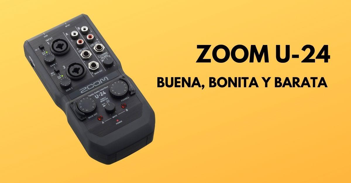Interface USB para 2 micrófonos BBB: Zoom U-24