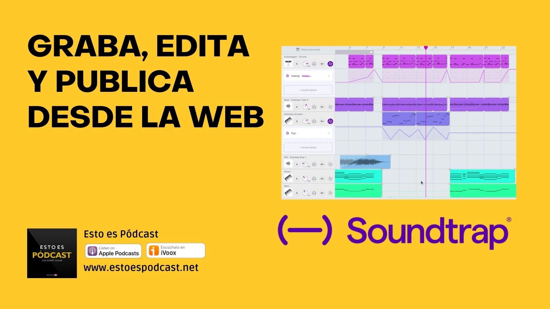 Graba a distancia, edita y publica tu podcast sin instalar programas: Soundtrap