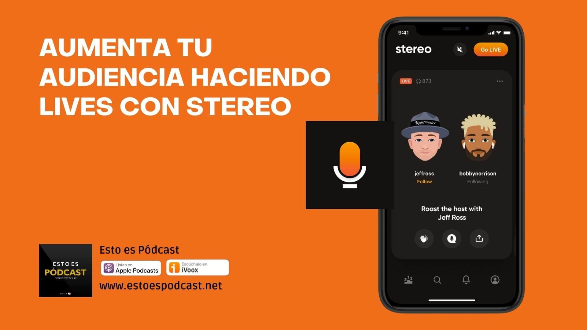Grabas tu Podcast con la app Stereo