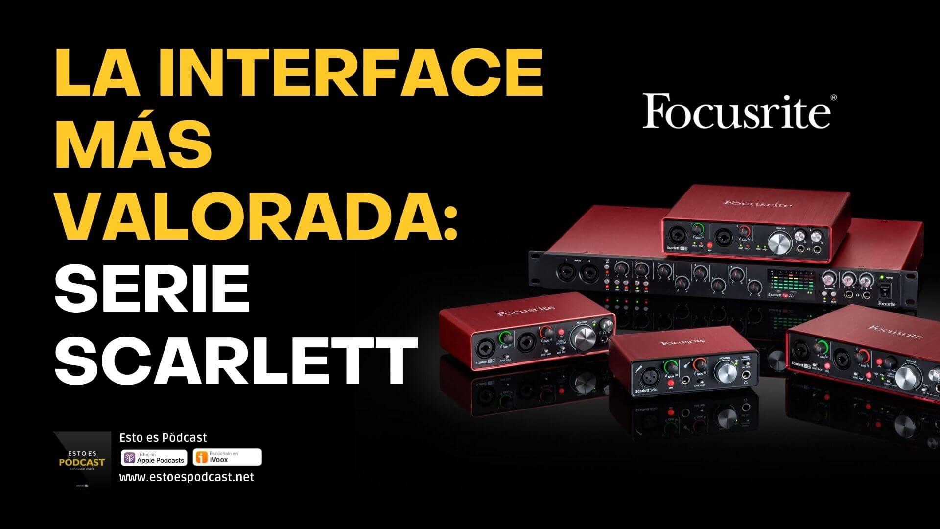 112. La interface USB mejor valorada: Focusrite Scarlett