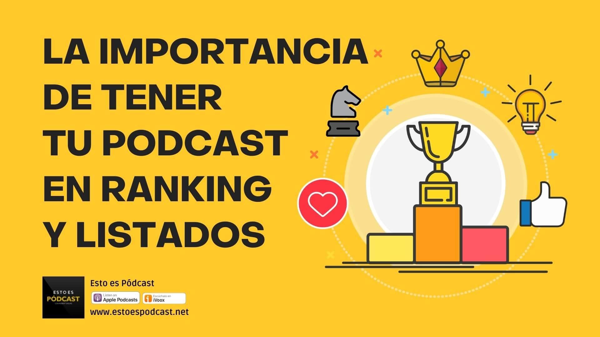 161. ¿Para qué son importantes los Rankings de Podcasts?